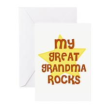 MY GREAT GRANDMA ROCKS Greeting Cards (Package of