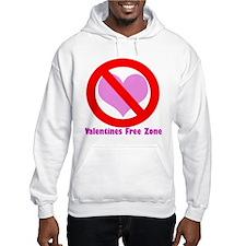 Valentine's free zone Hoodie