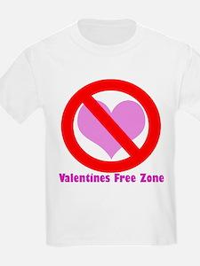 Valentine's free zone Kids T-Shirt