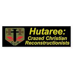 Hutaree Bumper Sticker with Badge