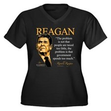 Ronald Reagan 2 Women's Plus Size V-Neck Dark T-Sh