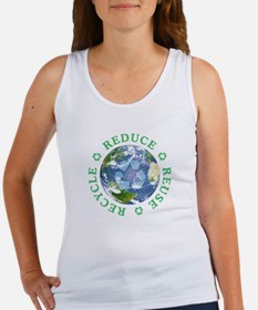 Reduce Reuse Recycle [globe] Women's Tank Top