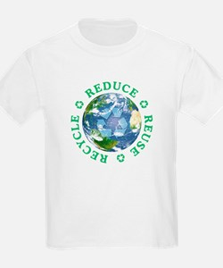 Reduce Reuse Recycle [globe] T-Shirt