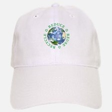 Reduce Reuse Recycle [globe] Baseball Baseball Cap