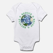 Reduce Reuse Recycle [globe] Infant Bodysuit