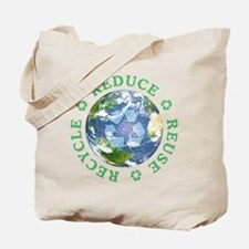 Reduce Reuse Recycle [globe] Tote Bag