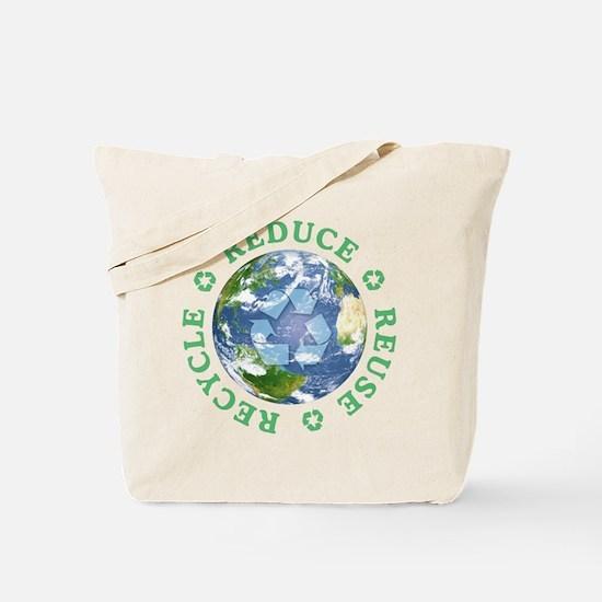Reduce Reuse Recycle [globe] Tote Bag