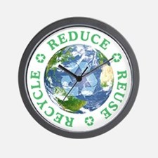 Reduce Reuse Recycle [globe] Wall Clock
