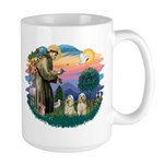 St Francis #2/ Cockers(2 buff) Large Mug