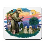 St Francis #2/ Cockers(2 buff) Mousepad