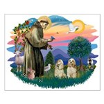 St Francis #2/ Cockers(2 buff) Small Poster