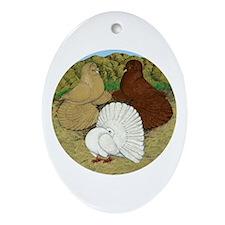 Beautiful Pigeons Ornament (Oval)
