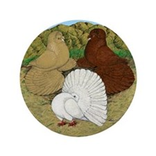 """Beautiful Pigeons 3.5"""" Button (100 pack)"""