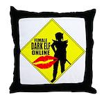 Female Dark Elf Online Throw Pillow