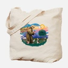 St Francis #2/ C Crested #1 Tote Bag
