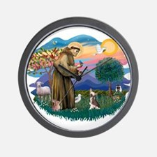 St Francis #2/ C Crested #1 Wall Clock