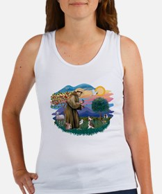 St Francis #2/ C Crested #1 Women's Tank Top