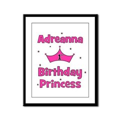 1st Birthday Princess Adreann Framed Panel Print