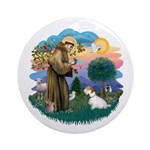 St Francis #2/ Sealyham T Ornament (Round)