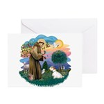 St Francis #2/ Sealyham T Greeting Cards (Pk of 10