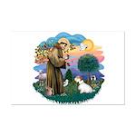 St Francis #2/ Sealyham T Mini Poster Print