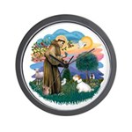 St Francis #2/ Sealyham T Wall Clock