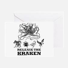 Kraken and Beasts Greeting Card
