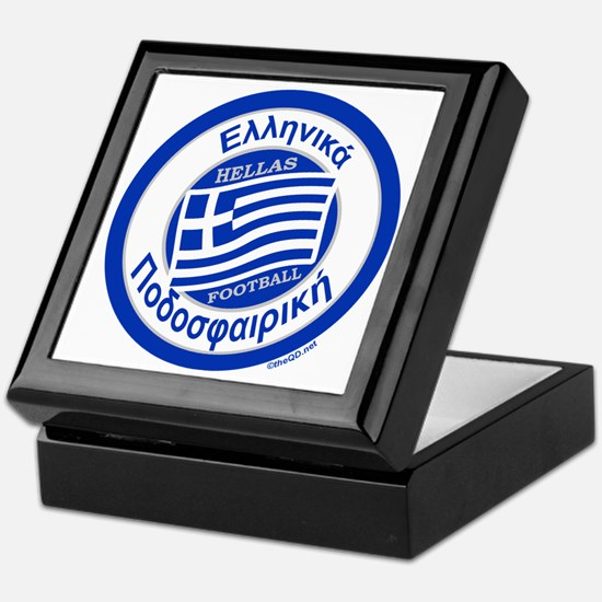 Greece Hellas Soccer/Football Keepsake Box