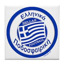 Greece Hellas Soccer/Football Tile Coaster