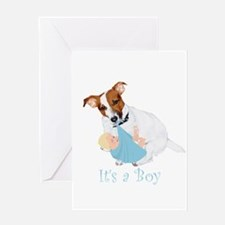 Jack Russell, It's A Boy Gifts Greeting Card