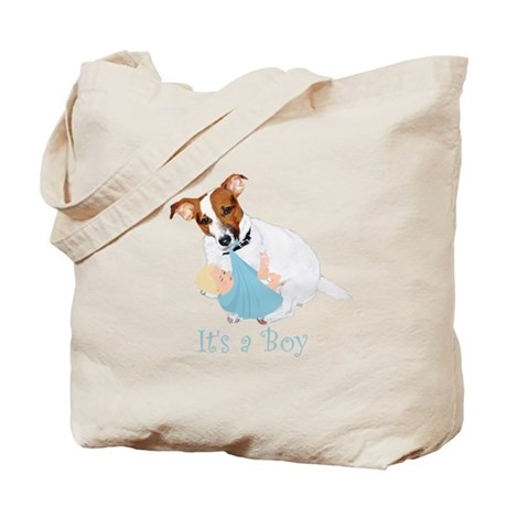 Jack Russell, It's A Boy Gifts Tote Bag