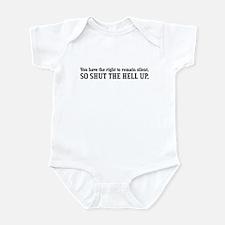 """""""Shut the Hell Up"""" Infant Bodysuit"""