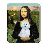 Mona Lisa / Maltese (B) Mousepad