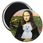 Mona Lisa / Maltese (B) Magnet