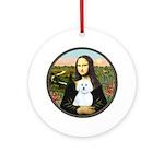 Mona Lisa / Maltese (B) Ornament (Round)