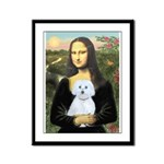 Mona Lisa / Maltese (B) Framed Panel Print