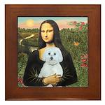 Mona Lisa / Maltese (B) Framed Tile