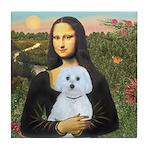Mona Lisa / Maltese (B) Tile Coaster