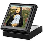 Mona Lisa / Maltese (B) Keepsake Box