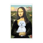 Mona Lisa / Maltese (B) Sticker (Rectangle)