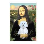 Mona Lisa / Maltese (B) Postcards (Package of 8)