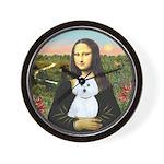 Mona Lisa / Maltese (B) Wall Clock