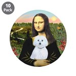 """Mona Lisa / Maltese (B) 3.5"""" Button (10 pack)"""