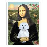 Mona Lisa / Maltese (B) Small Poster