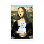 Mona Lisa / Maltese (B) Sticker (Rectangle 10 pk)