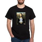 Mona Lisa / Maltese (B) Dark T-Shirt