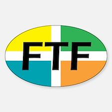 FTF oval sticker