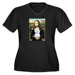 Mona Lisa / Maltese (B) Women's Plus Size V-Neck D