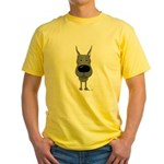 Big Nose Great Dane Yellow T-Shirt