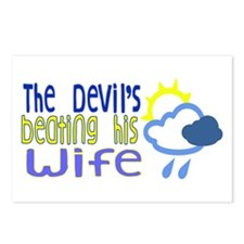 The Devil's Beating His Wife Postcards (Package of